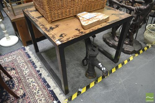 Rustic Black Square Dining Table (Top 100 x 100cm)