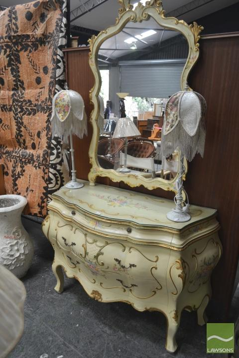 French Style Mirrored Back Sideboard