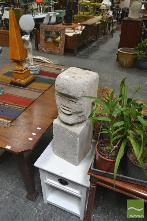 Pumice Easter Island Figure