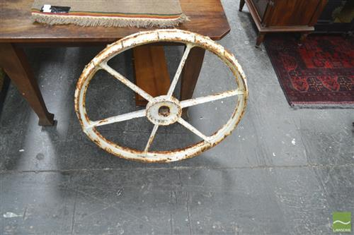 Metal Wagon Wheel