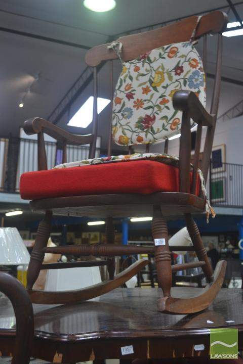Timber Spindle Back Rocking Chair