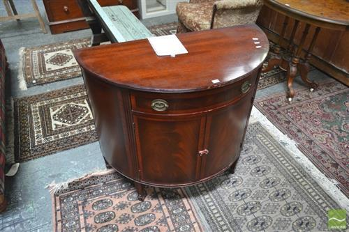 Raised Demi Lune Hall Cabinet