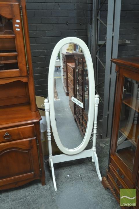 Painted Timber Cheval Mirror