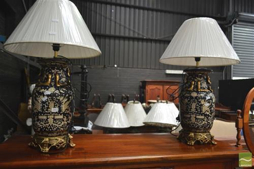 Pair of Oriental Lamps