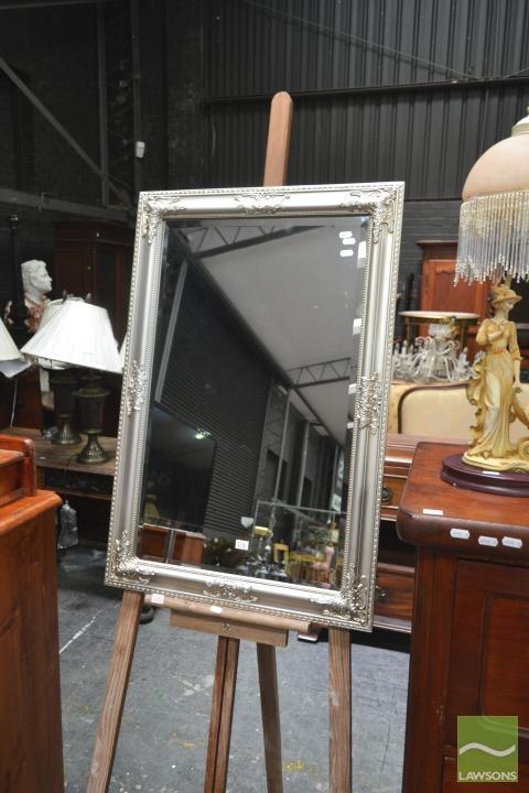 Silver Framed Rectangular Bevelled Edge Mirror