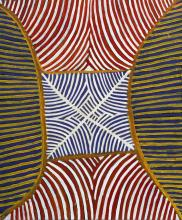 Ada Bird Petyarre, An Aboriginal work, serial no MB7364B (ADA 5/8/98), 64cm x 77cm