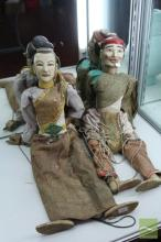 Thai Set of 2 Timber Puppets