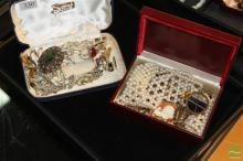 Two Small cases of Costume Jewellery