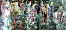 8 Chinese Porcelain Immortal Figures