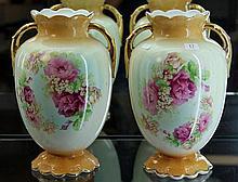 Pair of Empireware Floral Vases