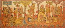 Attributed to Mangku Mura (1920 - 1999) - Mythological Scene 185 x 83cm