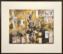 Yuri Nozdrin (1949 - ) - Patience Mill, 1994 49.5 x 64cm