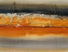 Geoffrey Dyer (1947-) - Riverscape 72 x 93.5 cm (frame: 88 x 109 x 2 cm)