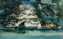 Geoff Dyer (1947 - ) - Scamander River 100 x 149.5 cm (frame: 112 x 160 x 3 cm)
