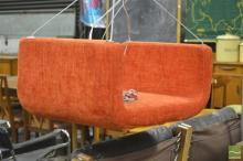 Danish ME & U Upholstered Soft Line Indoor Swing in Orange