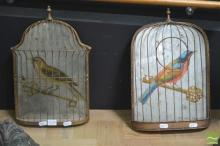 Matching Pair of Vintage Birdcage Mirrors