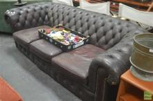 Brown Chesterfield Two Seater