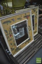 Pair of Hand Painted Timber Framed Mirrors