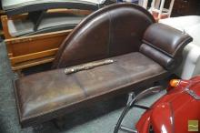 Leather Upholstered Chaise
