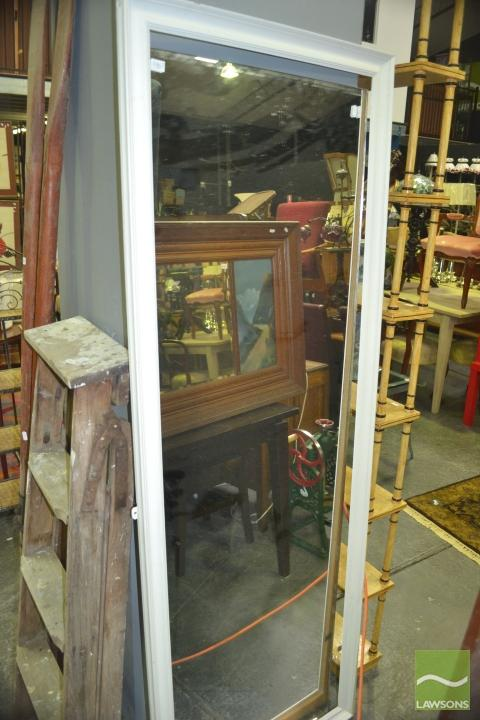 Long slim timber framed mirror 186 x 68cm for Long slim mirror