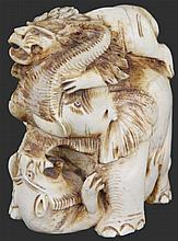 Ivory Carved Indian Elephant Figure
