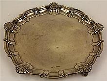 English Hallmarked Sterling Silver Salver