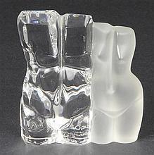 Daum Glass Figure Group by M Legendre
