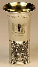 English Hallmarked Sterling Silver Beaker