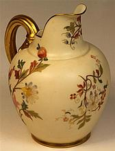 Royal Worcester Blush Ivory Hand Painted Pitcher