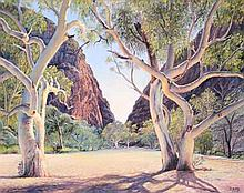 Nan Jury - Simpson's Gap, Alice Springs, N.T oil on board