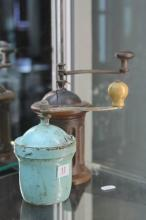 Duck Egg Blue Peugeot Coffee Grinder with a Fluted Grinder