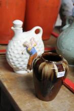 Diana Golfing Jug & a Bendigo Pottery Vase