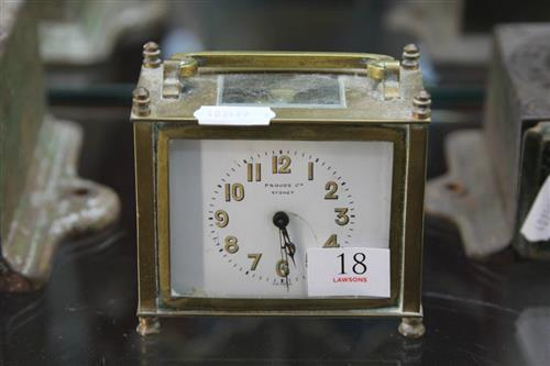 Prouds Sydney Carriage Clock