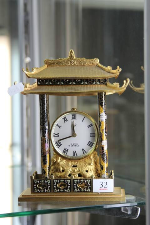 Chinese Cloisonne Mantle Clock