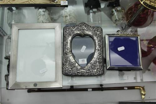 English Hallmarked Sterling Silver Picture Frames (3)