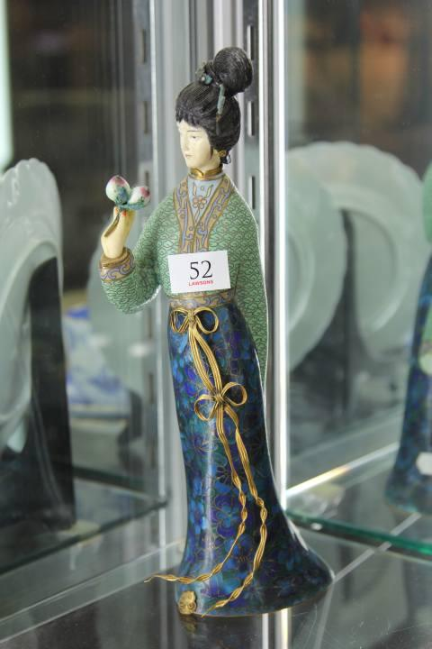 Cloisonne Figure of a Lady