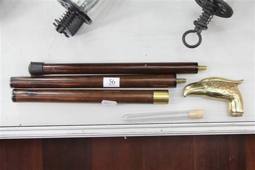 Brass Handled Brandy Smuggler Walking Stick
