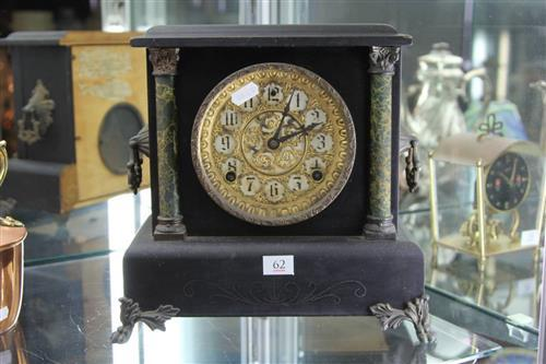 Sessions Gilt Faced Timber Mantle Clock