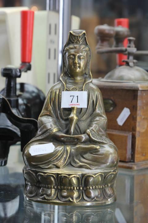 Vintage Bronze Chinese Buddha