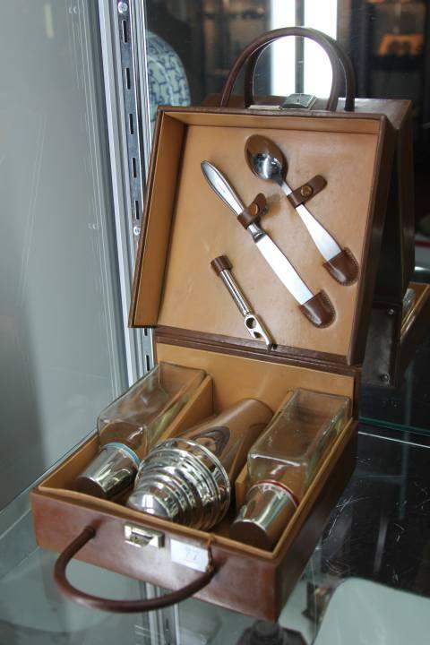 German Cocktail Kit in Leather Box