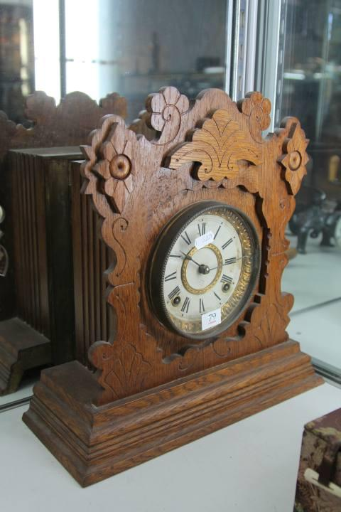 Ansonia Oak Cased Mantle Clock
