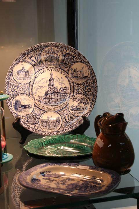 Wedgwood Majolica Grape Leaf Plates & Other Ceramics