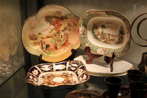 Royal Crown Derby Footed Dish with Ceramics incl. Late Spode