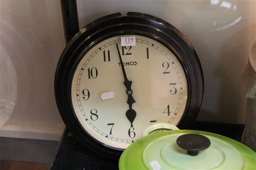 Temco Bakelite Clock