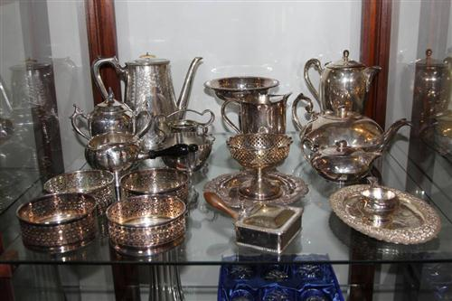 Silver Plated Tea & Coffee Service With Other Plated Wares Incl Wine Coasters