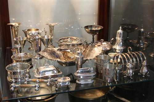 Silver Plated Condiment Wares With Other Plated Wares incl Miniature Tureen