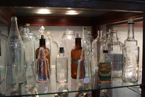 Karloff Vodka Bottle with Various Bottles incl. Cottees