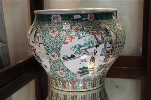 Early Qing Dynasty Famille Rose Jar