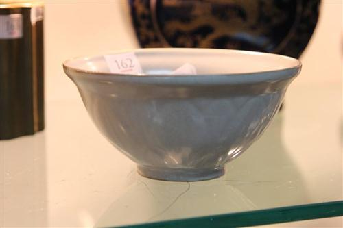 Celadon Crackle Glaze Floral Bowl