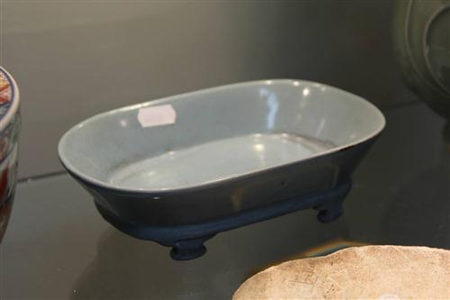 Ru Style Oval Shallow Bowl